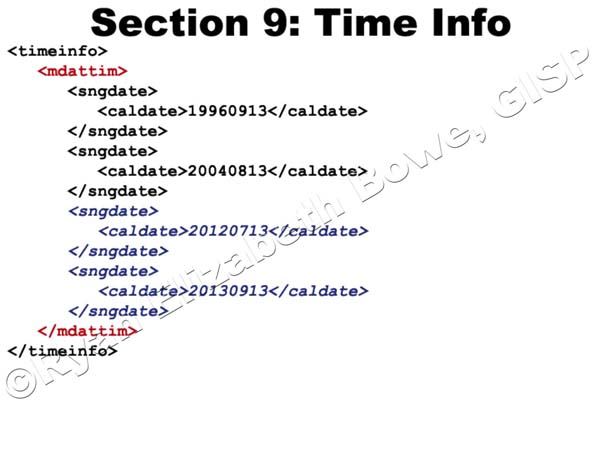 Time Info (Section 9)