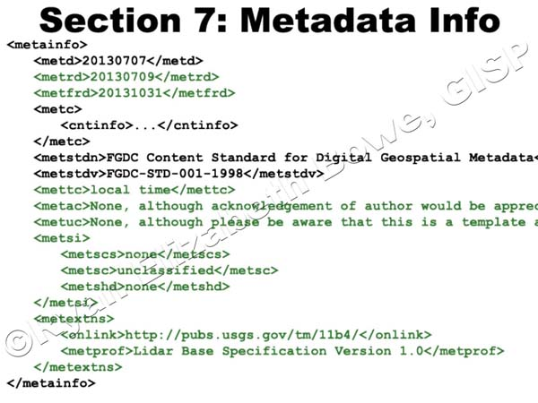 Metadata Info (Section 7)